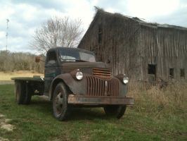 1945 Chevy and barn 2 by LoneWolfLuke