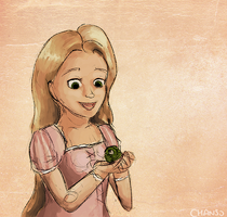 Rapunzel Meets Pascal by chanso