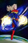 COLOUR_Captain Marvel by SweetAmberkins