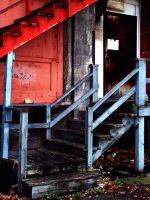 dirty stairs 2 by JensStockCollection