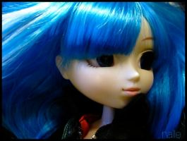 The girl with blue hair by Saanalle