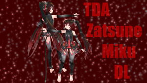 Kiraku's TDA Zatsune Miku V2 =DL= +With Chibi+ by KaRkAtHoNkS