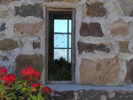 Little window with geraniums by edelweiss26