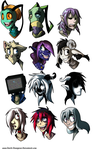 Head Shot Sheet: 2 by Devils-DownPour