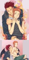 Mikoto and Yata by LinART