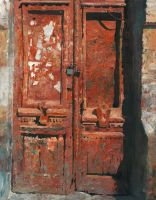 Saturn Red Door by DChernov