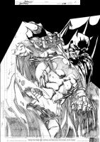Mark Bagley Batman Inks WIP by JamesLeeStone