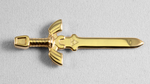 3D PRINTED GOLD LEGO MASTER SWORD by mingles