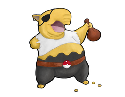 Pirate Drowzee- Buried Treasure Charity Collab by SirCassie