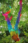 Street Art Yarn spider tree by dcs4200