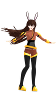 (MMDxRWBY) New Comer! - Velvet Scarletina by naruchan101