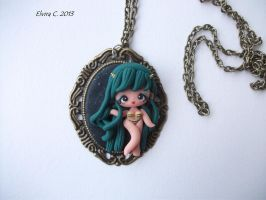 Urusei Yatsura polymer clay necklace by elvira-creations