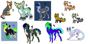 Unclaimed Adoptables by CandyCaane