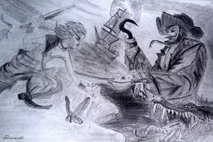 Peter Pan vs. Captain Hook by Flamecandle