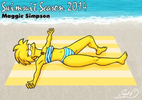 Swimsuit Season 2014: Maggie Simpson by Chesty-Larue