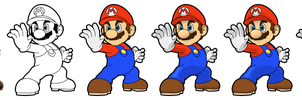 Mario Vector Drawing by Juliannb4