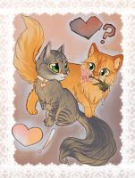 Kitty Love , Nugget and Pie by lizspit