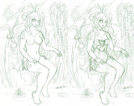Patreon Reward May 2017 Bambi double versions by nickyflamingo