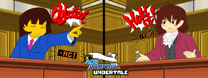 Undertale X Ace Attorney by DJNightmar3