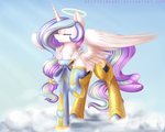 Commission: Angel Celestia by spittfireart
