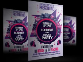 Electro And House Party by bl4ckocreation