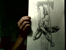 Drawing Spider Man - a WIP by Gle4se