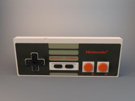 NES controller 3D by MyBurningEyes