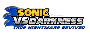 Sonic Vs Darkness: T.N.R fan game logo remade by NuryRush