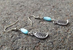 Earrings for the summer sea dragon by AlviaAlcedo