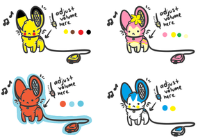 Portable Pokemon Mouse Speaker Adoptables Auction by Raysaur
