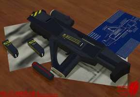 Laser Rifle 1 by Ovni-the-UFO