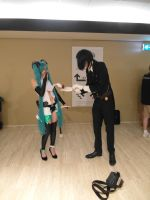 Animecon 2014 Miku and Sebastian by interceptornl