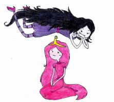Marceline and Bubblegum by JustASporkInTheRoad