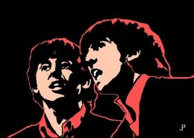 Paul and George in Concert by jade-pandora
