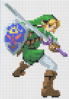 Link Cross Stitch Pattern *colored version* by Jormel