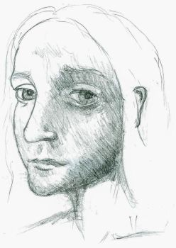 Girl from Drawing Book by kriskilgannon