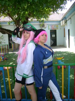AIR GEAR Simca and Mikan by BlazeHikari
