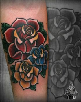 Tattoo old school roses by Coconut-CocaCola