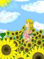 Clytie the sunflower by FallenAngelKokoro