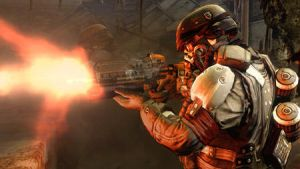 helghast soldier firing by tactican