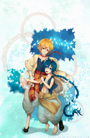 Magi:Aladdin and Alibaba by HetareHana