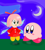 Kirby And Ribbon by AnarchyAngel91