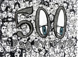 500 pageviews by slothsart