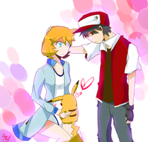 Red x Misty by 13Hael
