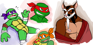 Turtles by BobTheTanuki