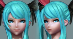Hatsune Miku: High Poly 3 by HazardousArts
