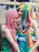 Fluttershy + Rainbow Dash - Friendship is magic by straychild77