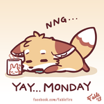 130916 - Yay Monday, Hangover Foxie by fablefire