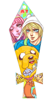 Adventure Time Bookmark by Londei