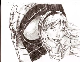 spiderman and gwen stacey by Flam-On